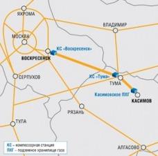 Газопровод Касимовское ПХГ - КС Воскресенск